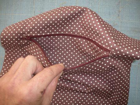 Technique : coudre une poche zippée dans un sac