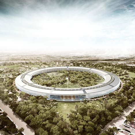 Here are some new images of the Apple campus by architects Foster + Partners, to be built in Cupertino, California.