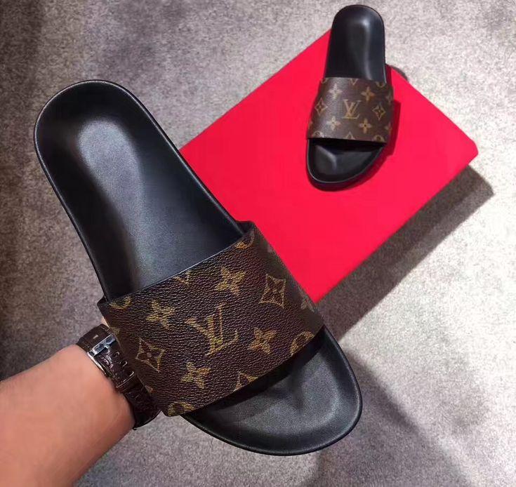 Louis Vuitton lv man shoes slides casual slippers