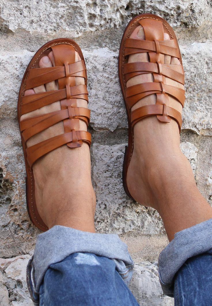 Men Sandals - Sandali uomo modello Tuscany. Link: www.sandalishop.it
