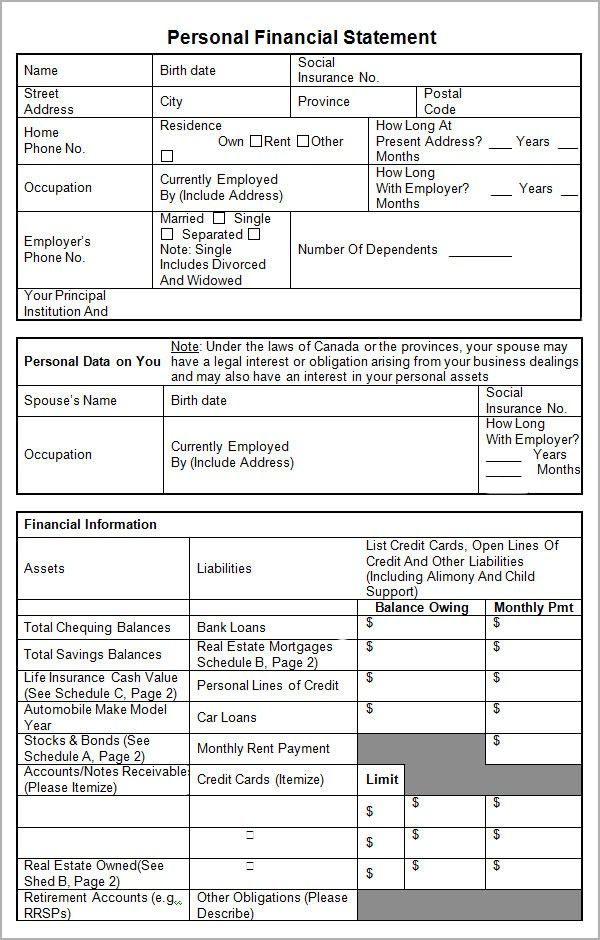 Financial Statement Worksheet Example 5 Things You Probably Didn T Know About Financial St Personal Financial Statement Statement Template Financial Statement