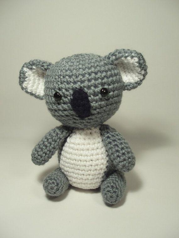 Crocheted Koala Bear Stuffed Animal Toy by NicolesCritters on Etsy, $24.00