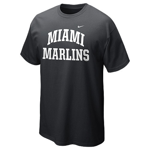 Miami Marlins Short Sleeve Arch T-Shirt 12 by Nike