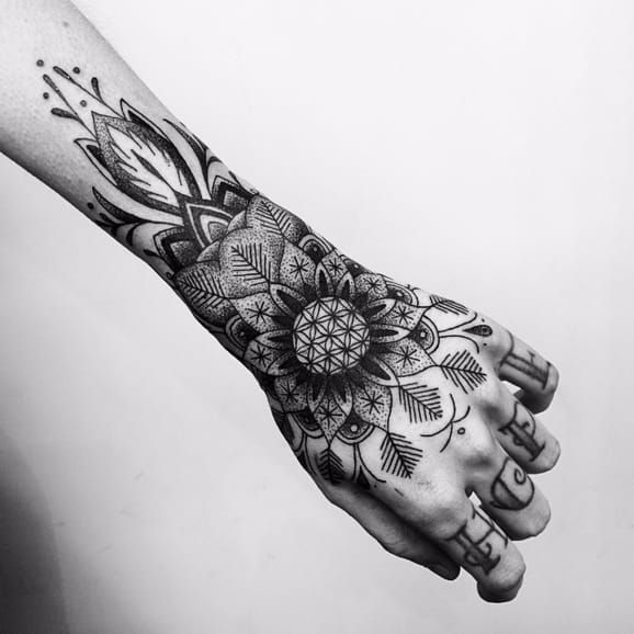 Bring Me The Horizon mandala tattoo by Tom Gapez bringmethehorizon bmth mandala sempiternal tattoo TomGapez