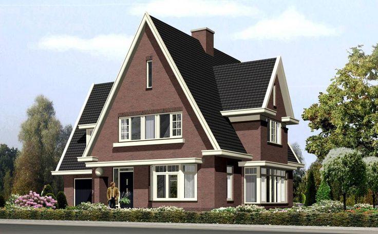 Impressie van een vrijstaande jaren30 woning jaren 30 woning bouwen for Afbeelding van moderne huizen