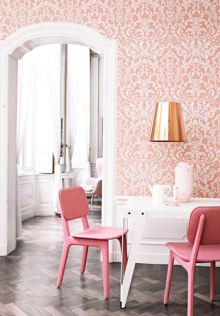 Wallpaper Ornamentals Pink-Orange / Behang Ornamentals Roze-Oranje - BN Wallcoverings