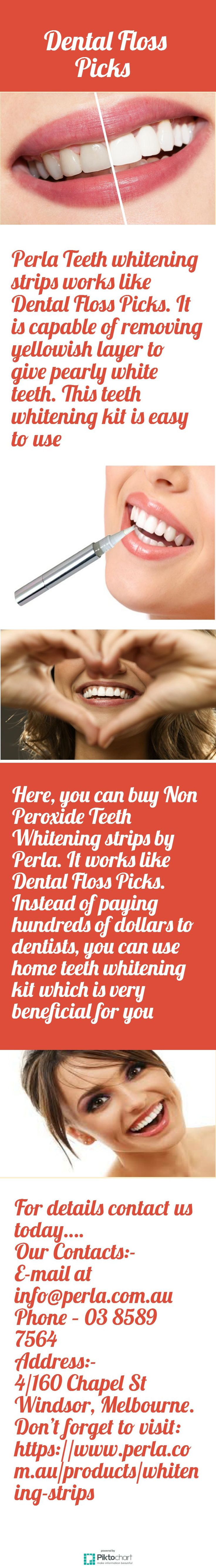 Perla Teeth whitening strips works like Dental Floss Picks. It is capable of removing yellowish layer to give pearly white teeth. This teeth whitening kit is easy to use. To buy it online, visit our website:  https://www.perla.com.au/products/whitening-strips
