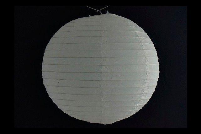 Sposi: Lanterna di carta di riso da appendere, colore Bianca 30 cm, con gancio.