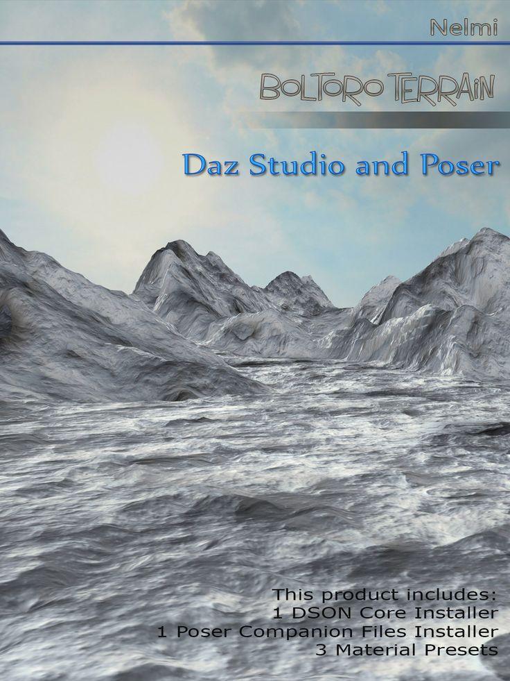https://www.renderosity.com/mod/bcs/boltoro-terrain-for-daz-studio-and-poser/114250/