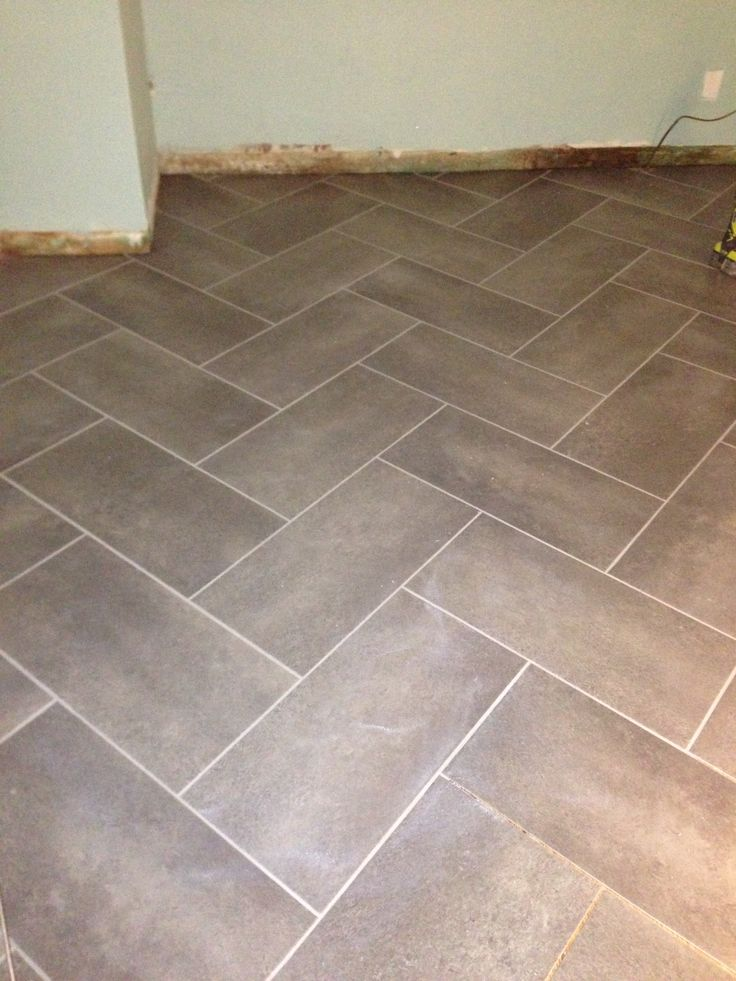 12 in x 24 in coastal grey resilient vinyl tile flooring 30 sq ft case herringbone Vinyl tile floor