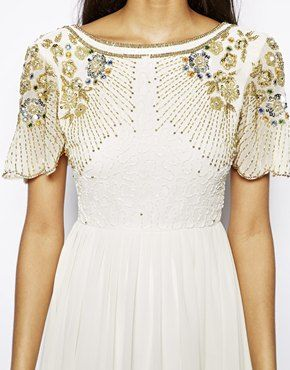 Image 3 of Virgos Lounge Raina Maxi Dress with Embellished Shoulder
