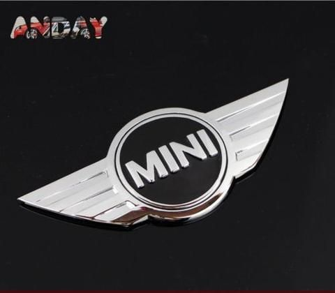 3D Decal Car Sticker 3M Metal Chrome Badge Cooper MINI emblem logo trunk