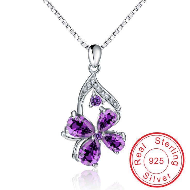 Visisap Four Leaf Clover wedding gift Necklace 925 Sterling silver Elegant jewelry for women Necklaces & Pendants VCY255