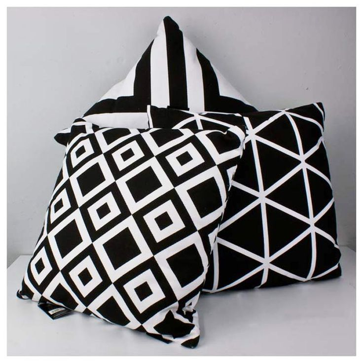 Black & White Geometric Cushions - www.koop.co.nz
