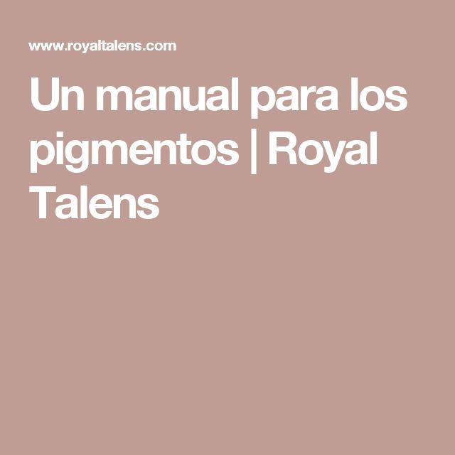Un manual para los pigmentos | Royal Talens