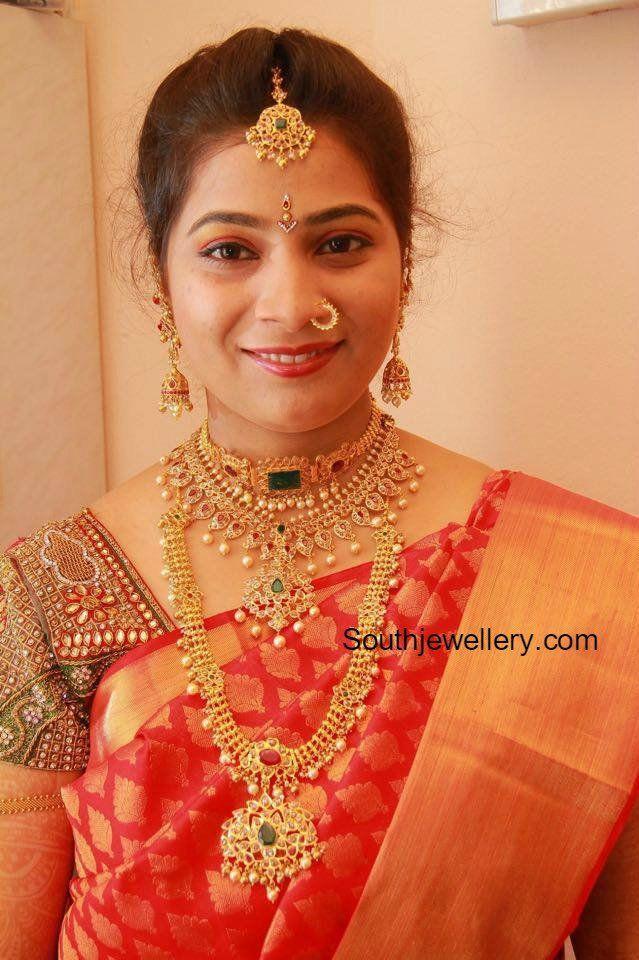 Bride in Uncut Diamond Jewellery