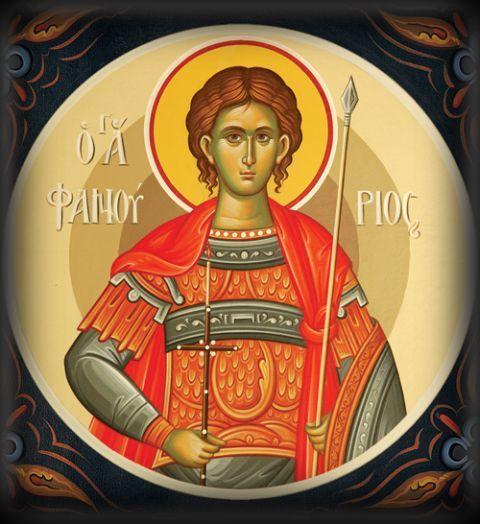 St Phanourios icon.  Ορθόδοξος Συναξαριστής :: Άγιος Φανούριος ο Νεοφανής, ο Μεγαλομάρτυρας