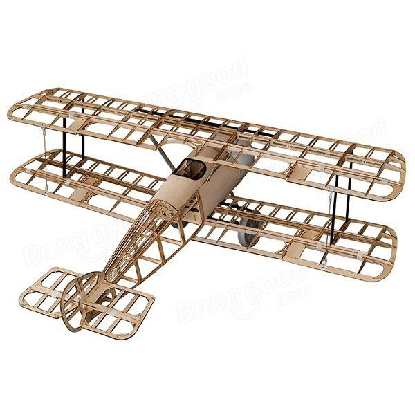 Sopwith Camel 1520mm Wingspan Balsa Wood RC Airplane KIT With Plastic/Glassfiber…
