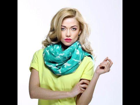Учимся быстро и красиво завязать шарф/палантин - YouTube