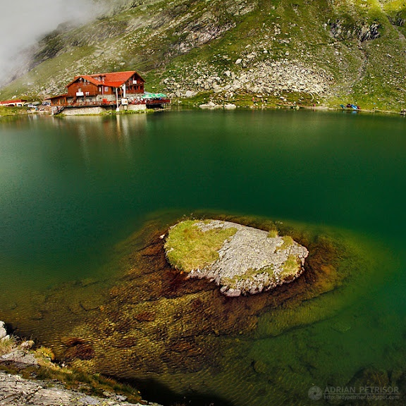 Balea Lake (glacier lake in Fagaras Mountains)