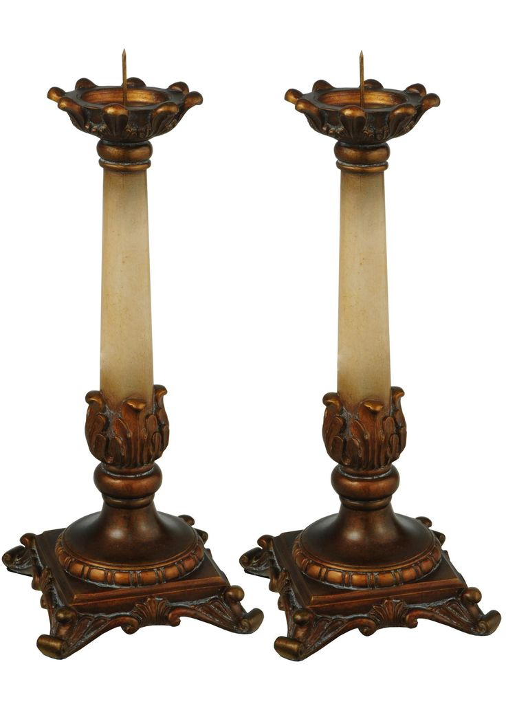 10 Inch H Arcadia 2 Pieces Candle Sticks - 10 Inch H Arcadia 2 Pieces Candle SticksAn opulent Italianesque styled Ivory and Bronze handpainted finish brings life to these elegant pair ofacanthus leaf accented candlesticks. Light them up totransform an ordinary room into your own sanctuary. Theme: VICTORIAN Religious Product Family: Arcadia Product Type: NOVELTY LAMPS AND ACCESSORIES Product Application: CANDLE HOLDERS Color: ARCADIA BRONZE/IVORY Bulb Type: Bulb Quantity: Bulb Wattage…