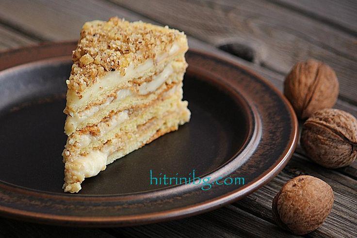 Тази рецепта за селска торта с крем е от моята баба.Трябва да съм откровена с вас ищесподеля, че бабината селска торта не успях да снимам цяла нито веднъж
