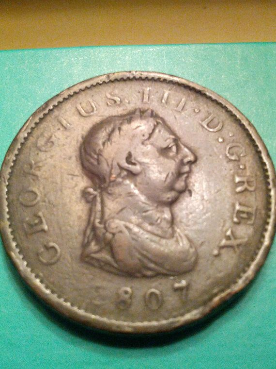 1807 lovely chocolate british britannia penny by drewscollectibles   17 00