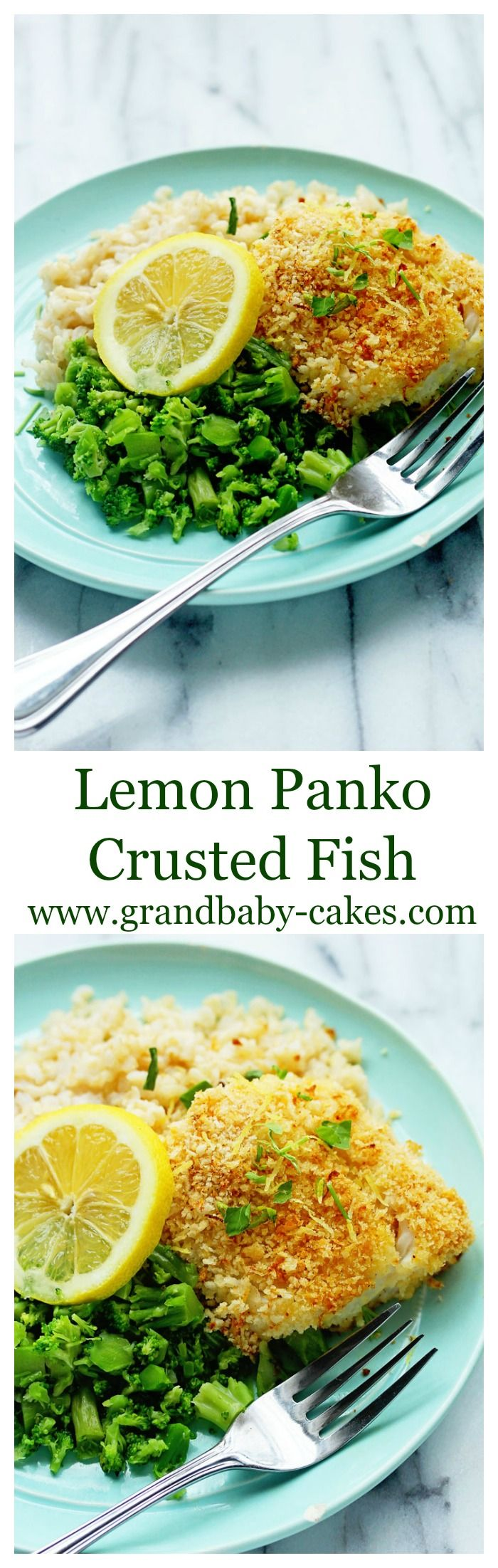 Lemon Panko Crusted Fish - the easiest and most delightful recipe ever, not to mention the tastiest! ~ http://www.grandbaby-cakes.com