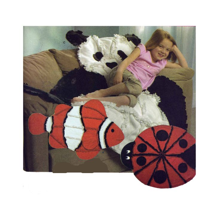 Panda Lady Bug Amp Clown Fish Rag Quilt Pattern Children