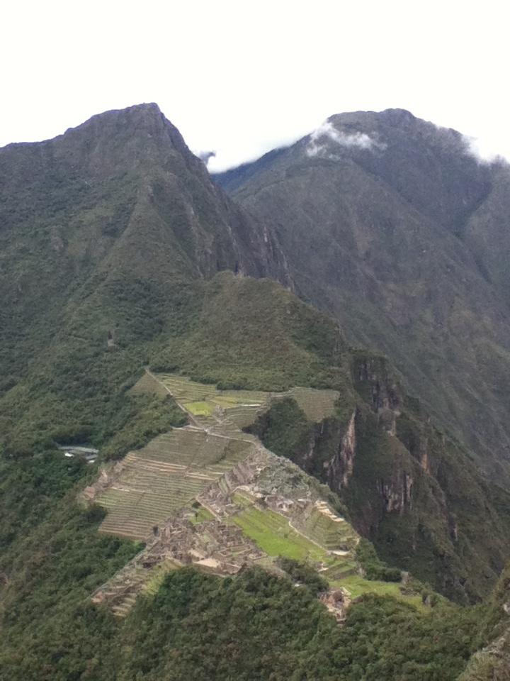 Machu Picchu from Wayna Picchu.
