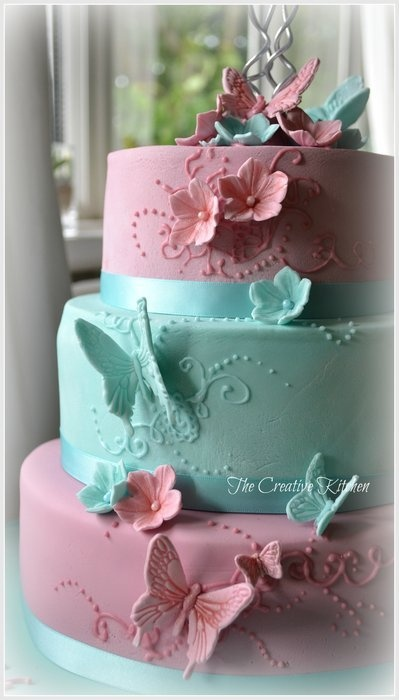 """3 Tier Butterfly """"Zahra""""  Cake by TheCreativeKitchen"""