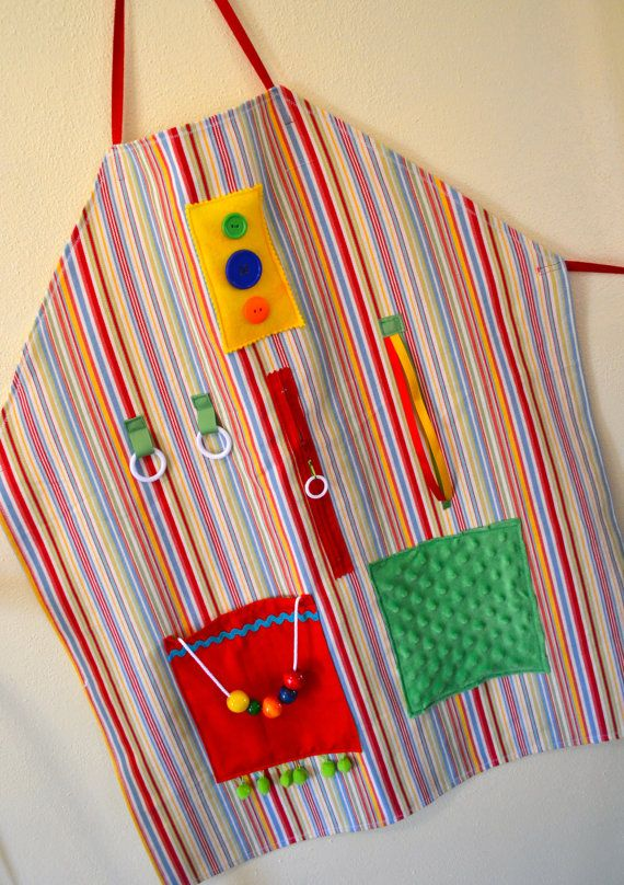 Multicolor Striped Activity Apron for Alzheimer's/DementiaKelli Duncan