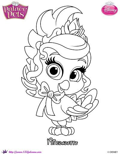 princess palace pets birdadette coloring page - Disney Palace Pets Coloring Pages