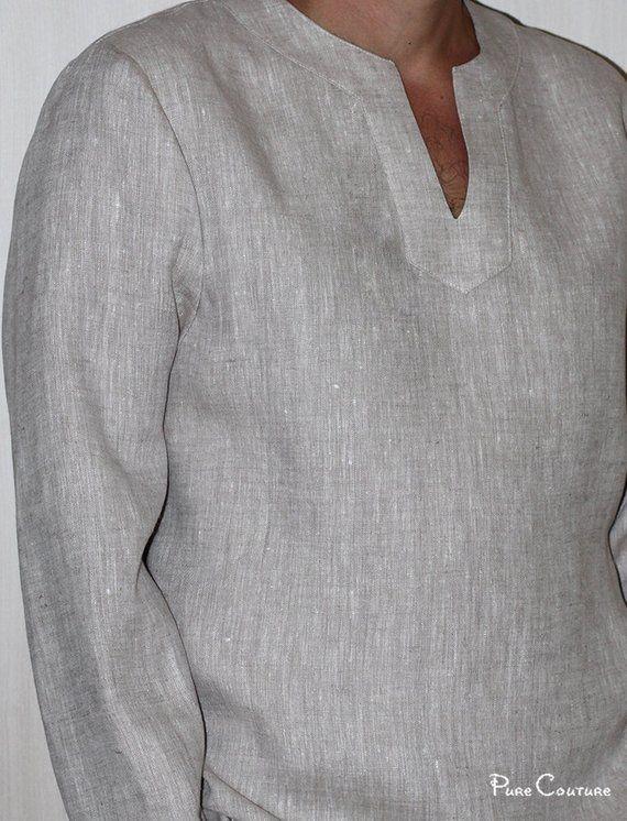Linen Shirt Men Organic Linen Shirt Men S Long Sleeve Linen Shirt Grey Linen Shirt Linen Jacket Men S Linen Shirt Summer Shirt Linen Shirt Men Mens Shirts Men Shirt Style