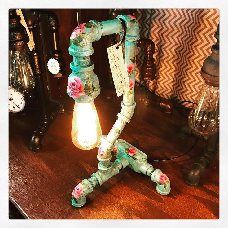 Iron pipe designs just stepped up their game and brought in this ONE OF A KIND Hand-Painted Lamp from Dealer 55 $139 and completely gorgeous! #temecula #antiques #temeculaantiques #fourthstreetantiques #4thstreetantiques #vintage #murrieta #wildomar #hemet #menifee #canyonlake #lakeelsinore #riversideca #palmsprings #fallbrook #oldtown #sandiego #oldtowntemecula #temeculavalley #vintageforsale #antiquesforsale #temeculabound #temeculawinecountry #antiquefinds #rustic #antiquestore…