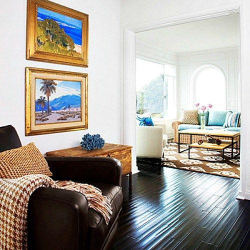 Bright Blue And Orange For A Happy Laguna Beach Home