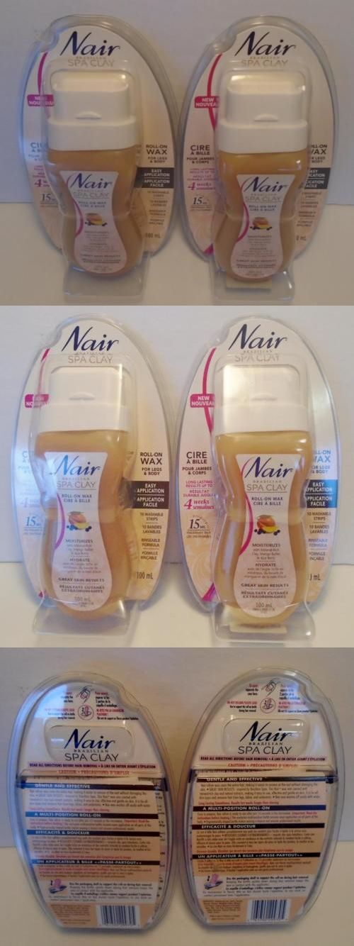 Hair Removal Creams and Sprays: Nair Roll On Wax Hair Remover Brazillian Spa Clay X 2 New In Package BUY IT NOW ONLY: $39.95