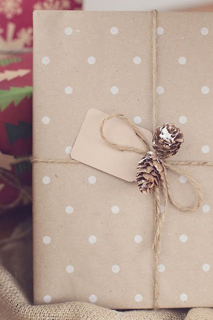 Homemade gift wrap.