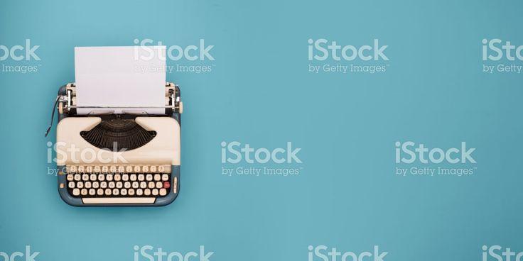 Typewriter header royalty-free stock photo