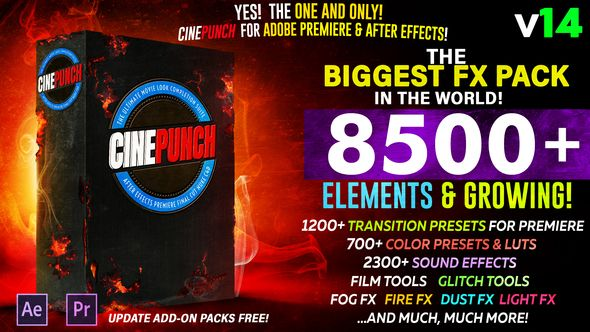 CINEPUNCH - Biggest FX Pack in the World! | video effects in 2019