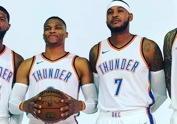 #sneakers #news Carmelo Anthony Makes OKC Thunder Debut, Russell Westbrook Laces Up Air Jordan 32 PE
