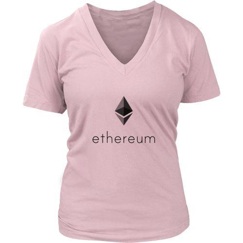 Ethereum woman's V-neck