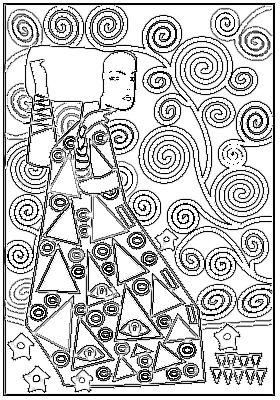 Proposition de Dessins, Coloriage Or et couleur, Gustave Klimt propose par Hélène Poncet  Atelier 27