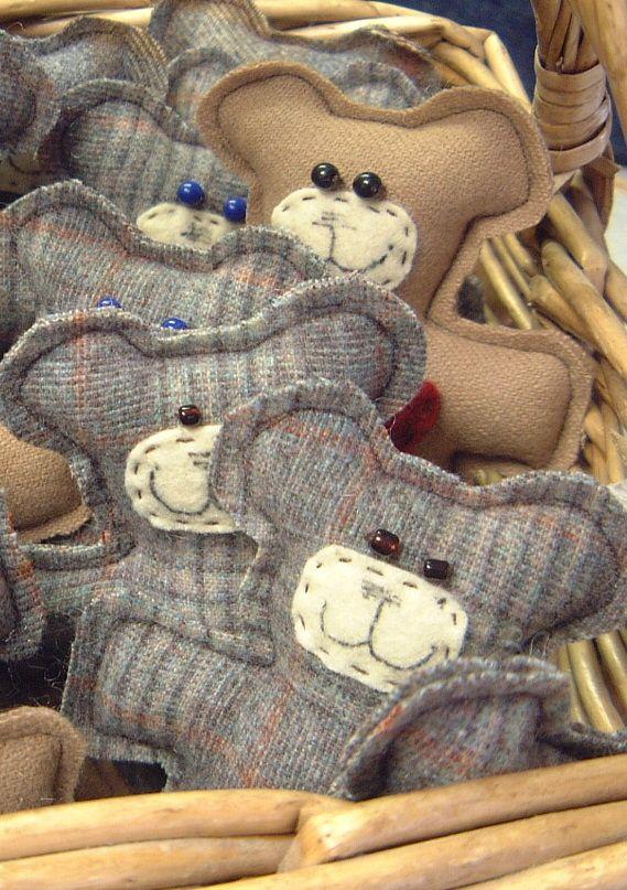 Idea para reciclar trajes de lana de caballero - Reciclar restos de lana ...