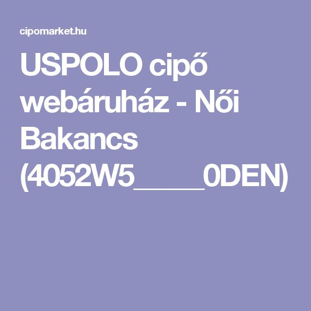 USPOLO cipő webáruház - Női Bakancs (4052W5_____0DEN)