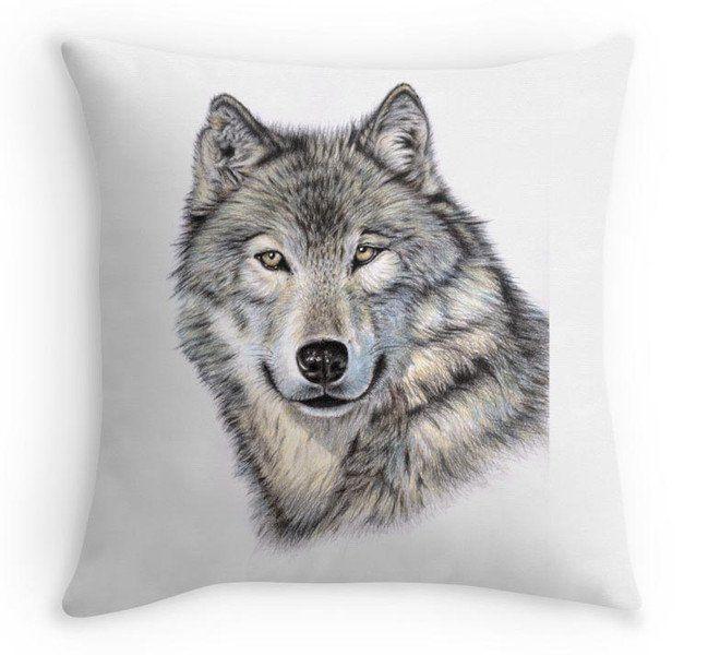 Kissenbezüge - WOLF Kissenbezug 40x40 cm mit tollem Tiermotiv - ein Designerstück von NicoleZeug bei DaWanda
