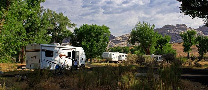 Green River Campground in summer 2012 | Discover Dinosaur National Monument--Past and Present | RoadTripExplore.com