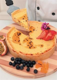 Food & Home Entertaining | Granadilla and lemon tart with lime-scented shortcrust pastry