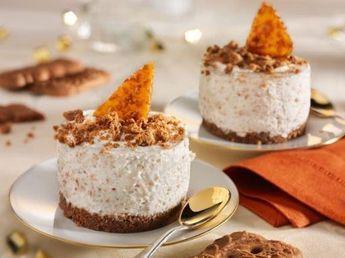 Spekulatius-Mousse-Törtchen mit Mandelkrokant - dieses köstliche Dessert lässt sich perfekt vorbereiten.