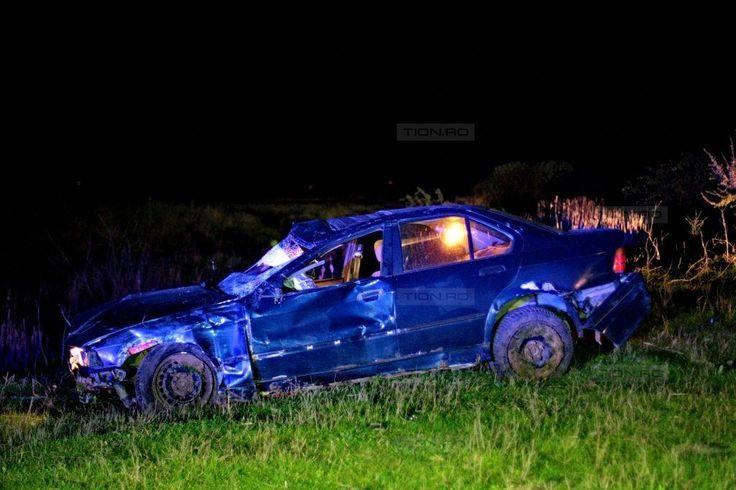 Accident mortal la Recas. Un barbat a murit dupa ce a iesit cu BMW-ul de pe carosabil